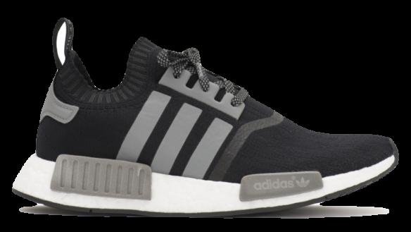Adidas NMD R1 Primeknit Унисекс Черно-Серые