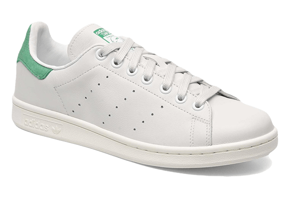 Adidas Stan Smith Кожаные белые с зеленым