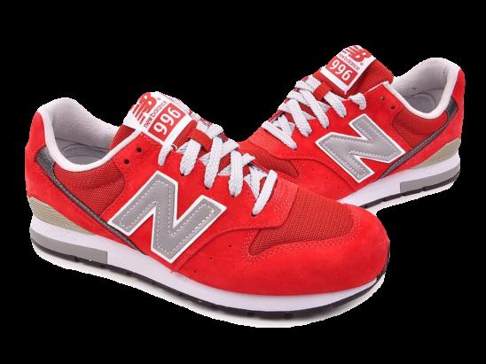 New Balance 996 Красные Замша