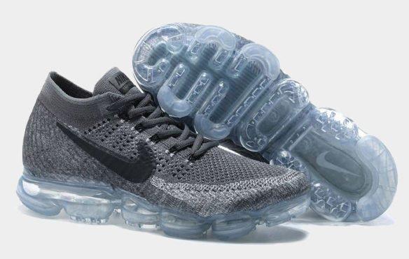 Фото Nike Air VaporMax Flyknit темно-серые - 1