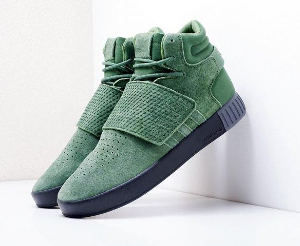 Adidas Tubular Invader Strap зеленые