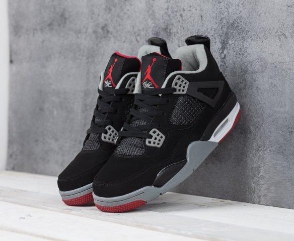 Nike Air Jordan 4 Retro black-grey