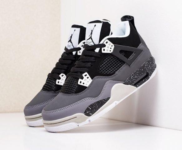 Nike Air Jordan 4 Retro черно-серые