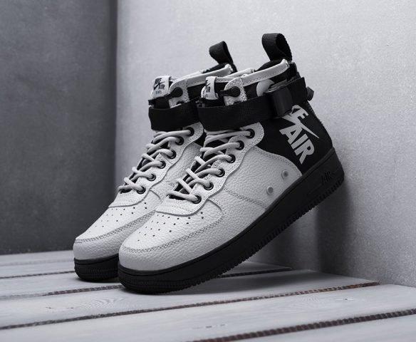 Nike SF Air Force 1 Mid черно-серые