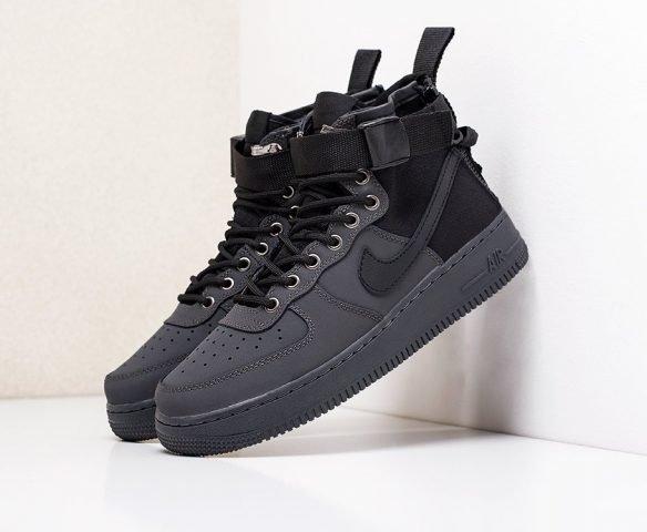 Nike SF Air Force 1 Mid высокие черные