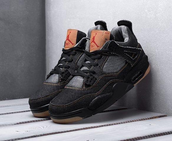 Nike x Levi's Air Jordan 4 Retro черные