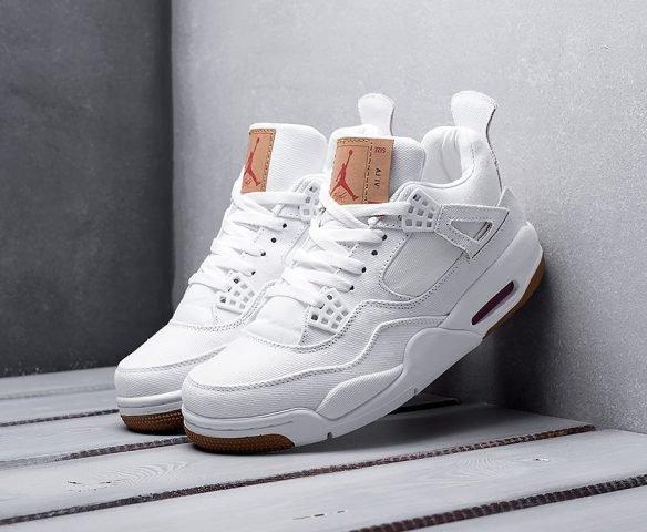 Nike x Levi's Air Jordan 4 Retro белые