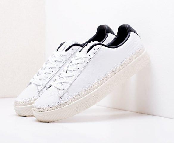 Puma Basket Stitched Shoes белые