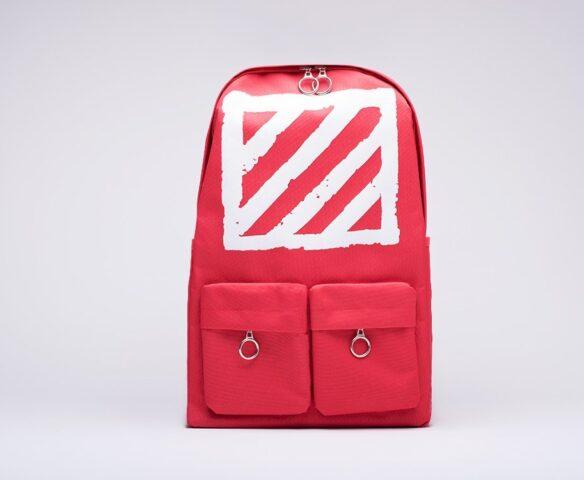 Рюкзак OFF-WHITE красно-белый