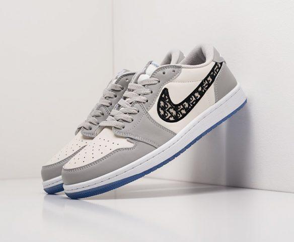 Dior x Nike Air Jordan 1 Low серые