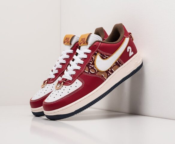 Nike x Dior Air Force 1 Low бордовые